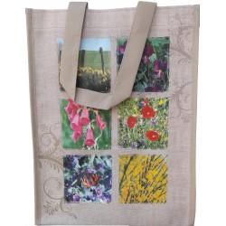 Moyen cabas : nature et fleurs