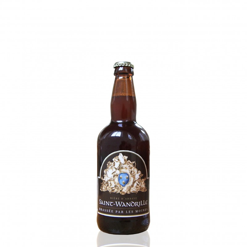 Monastic beer blond or white brewed by the monks of the abbey of Saint Wandrille in Normandy