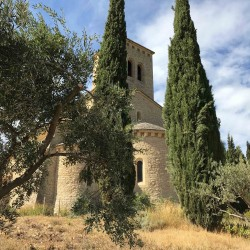 Church in the monastery of le barroux, french vaucluse