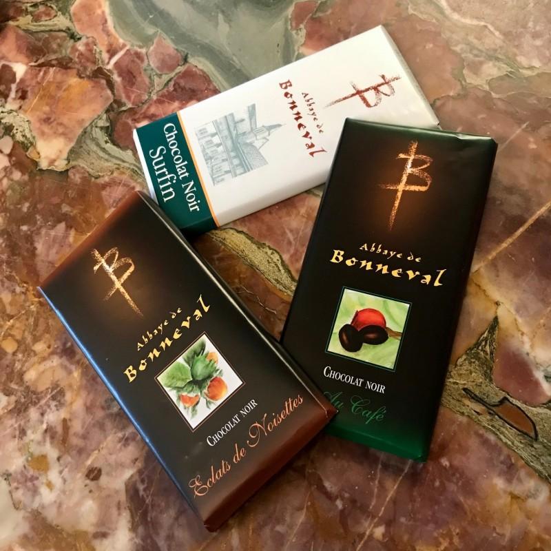 Tablettes chocolat noir (surfin, café ou noisette) - Bonneval