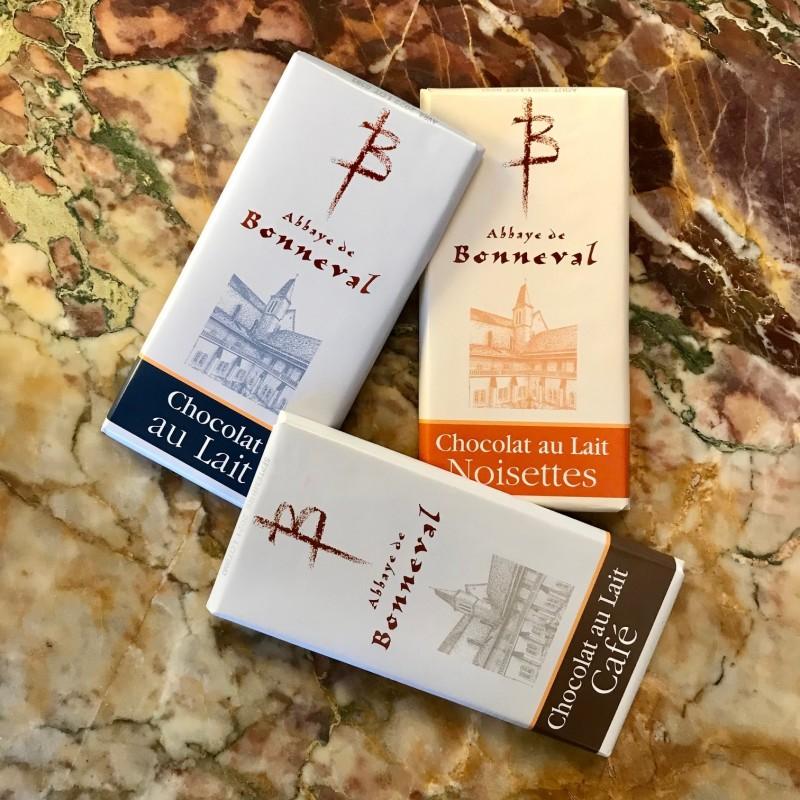 Tablettes de chocolat au lait - Abbaye de Bonneval
