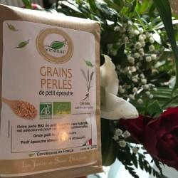 Organic pearl grains spelled