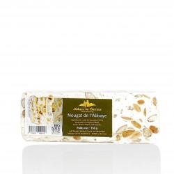 White nougat with honey hazelnuts and almonds