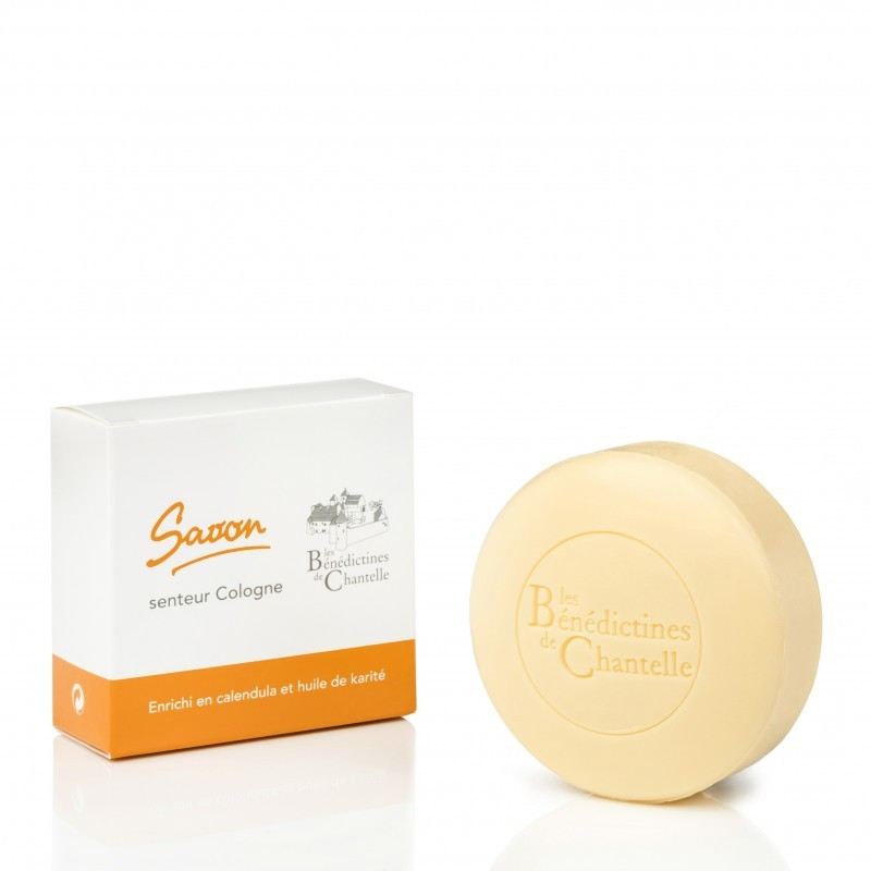 Round soap 150 g surgras Cologne - Enriched with calendula