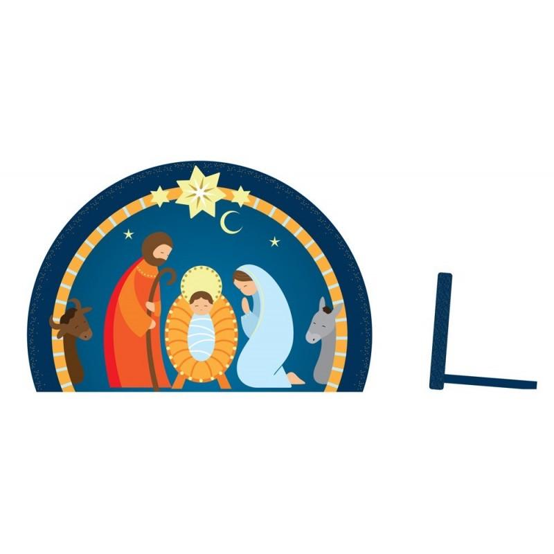 Nativité bleue à poser