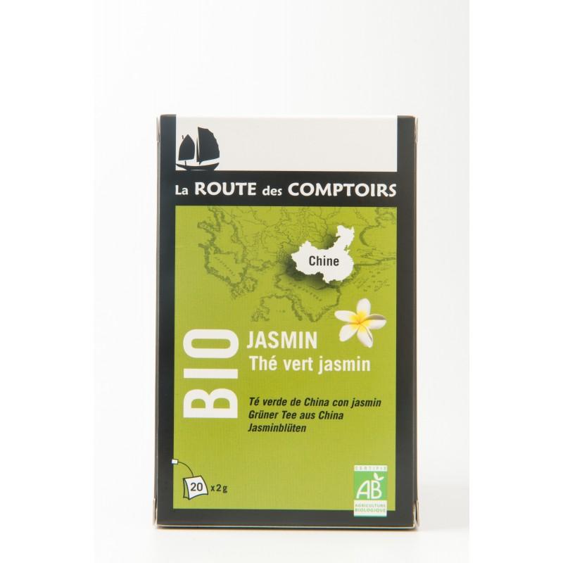 Thé vert jasmin BIO en sachet - La route des Comptoirs
