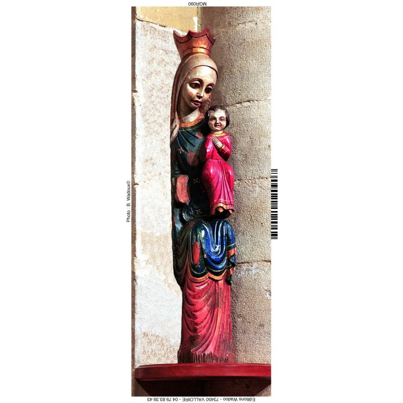 Magnet de la vierge à l'enfant - église Saint-Vincent de Chantelle