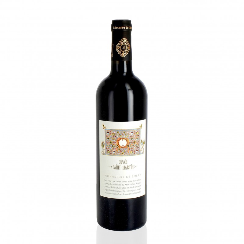 French Organic red wine - St Martin vintage - Solan Monastery
